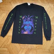 Marilyn Manson 1996 Baphomet - L - Long Sleeved Andlsquotest Printandrsquo