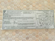 Porsche Official 911 Turbo Series Emissions Sticker 49 State Cars 1986 Nos