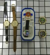 Lot Of 5 Mickey Mouse Marvin The Martian Mel Blanc Bugs Bunny Disney Watches