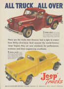 All Truck - All Over - Jeep Trucks Willys-overland Ad 1947 T