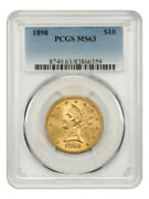 1898 10 Pcgs Ms63 - Liberty Eagle - Gold Coin