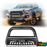 3 Bull Bar Bumper Grille Guards W/ Skid Plate For 2007-2020 Toyota Tundra
