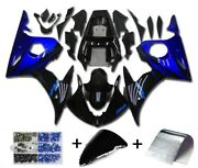 Fairing Blue Black Injection Plastic Kit Fit For Yamaha 2003 2004 Yzf R6 Sf