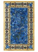 30 X 60 Marble Office Meeting Table Pietra Dura Art Dining Table Top For Home