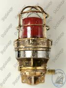 Reclaimed Old Nautical Ship Salvaged Brass Swan Neck Vintage Wall Mount Light