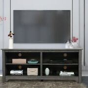58 Wooden Tv Stand For Tvs Up To 65 Farmhouse Universal Stand W/storage Shelf