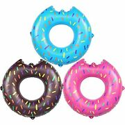 Akaso Inflatable Pool Tubes 3 Pack Pool Floats Swimming Ring For Kids Water T...