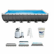 Intex 24 Ft X 12 Ft Ultra Xtr Frame Swimming Pool With Pump And Chlorine Tablets