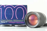 【mint In Box】 Contax Carl Zeiss Planar T 100mm F/2 Mmg Lens From Japan 1045