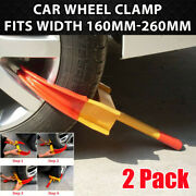 2pcs Wheel Lock Clamp Boot Tire Claw Car Truck Rv Trailer Anti-theft Towing Us