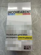 What Do You Meme Incohearent Incoherent Adult Party Board Game With 500 Cards