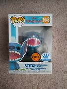 Stitch With Record Player Chase Funko Pop 1048 In Disney Funko Shop Exclusive