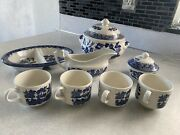 Vintage Churchhill Blue Willow Dishes