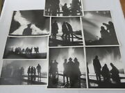 Vintage Original Montreal Firefighter Train Fire Photograph Photo Lot Of 8