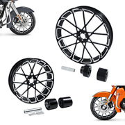 21 Front 18and039and039 Rear Wheel Rim + Hub Fit For Harley Touring Street Glide 08-21 19