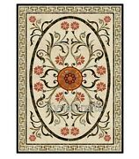 36 X 60 Inch Marble Office Table Marquetry Art Dining Table Top From Cottage Art
