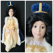 Franklin Mint Porcelain Doll- Great Queens Of England Series Queen Anne