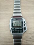 Casio Cmd-40 Vintage Watch Ir Learning / Remote Silver Color