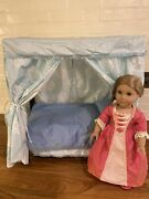 Retired American Girl Elizabeth Doll In Meet Dress And Shoes With Bed