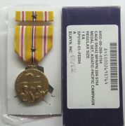 Ww Ii Asiatic Pacific Campaign Medal Set In Gi Issue Box With 1 Battle Star