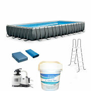 Intex Ultra Xtr Frame Pool Bundle With Pump And Pool Care Chlorine Tablets 10 Lb