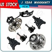 6x Front Wheel Bearing Upper Lower Ball Joint Kit W/abs Fits Chevrolet Colorado