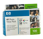 Hp Invent Photo Value Pack 57 Tricolor 58 Photo Series Ink Cartridge Combo Pack