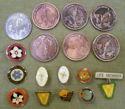 D263.  Lot Of Australiasian Native Orchid Society Badges And Prize Medals