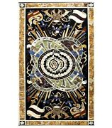 36 X 60 Inches Marble Dining Table Top Pietra Dura Art Sofa Table For Home Decor