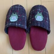 Studio Ghibli My Neighbor Totoro 18-21cm Size Slippers With Emblem Patch Rare