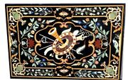 36 X 60 Inches Marble Dining Table Top Mosaic Art Office Meeting Table For Decor