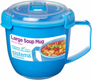 Large Soup Mug Tupperware Microwave Safe Steam Release Lid 3.8cups Capacity New