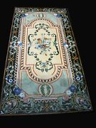30x60 Inch Marble Dining Table Top Antique Design Center Table From Heritage Art