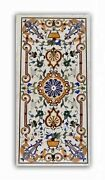 30x60 Inches Marble Dining Table Top Antique Pattern Center Table For Home Decor