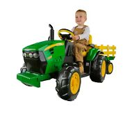 Peg Perego John Deere Ground Force 12-volt Tractor Ride-on Drives 2.5 And 5mph New