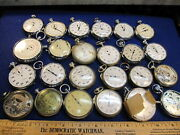 Lot Of 24 Vintage Stop Watch Pocket Watches For Parts Alt Art