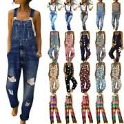 Women's Strappy Jumpsuit Dungarees Overalls Ladies Long Playsuit Rompers Pants