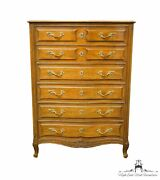 Henredon Furniture Custom Folio Two French Provincial 40 Chest Of Drawers 5-...
