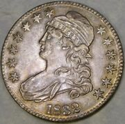 1832 Capped Bust Lettered Edge Silver Half Dollar Scarce Beautiful Overton 122