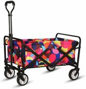 Collapsible Outdoor Beach Garden Cart Utility Pull Folding Wagon Grocery Cart