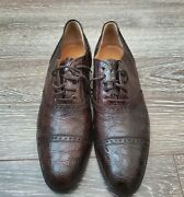 Polo Made In Italy Alligator Crocodile Oxford Lace-up Shoes Size 11