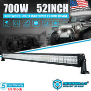 52inch 700w Led Work Light Bar Driving Lamp Spot Flood Combo For Offroad Suv 50