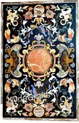 36 X 60 Inch White Marble Dining Table Top Pietra Dura Art Patio Table For Home