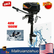 1000w Electric Outboard Motor Fishing Inflatable Boat Engine Propeller Shaft 48v