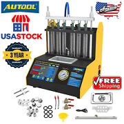 Usa Car Motor Gasoline Nozzle Tester Ultrasonic Fuel Injector Cleaning Machine