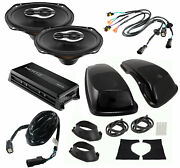 Sx690neo Replacement Speaker Bag Lid Pkg W/ Adapters And Hmp4d Amp For Harley