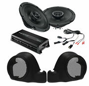 Sx165neo Speakers + Twin Cooled Lower Fairing Pods W/ Hmp4d Amp For 14+ Harley