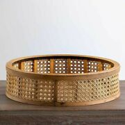 Natural Woven Round Tray 4.15h X 15.5 In