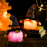 Halloween Faceless Doll Ornaments Light-up Figure Elf Gnome Diy Home Decorations