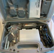 Dremel Model 300 Corded 120v Rotary Tool, Attachments, Manual, And Case, Used - Vg
